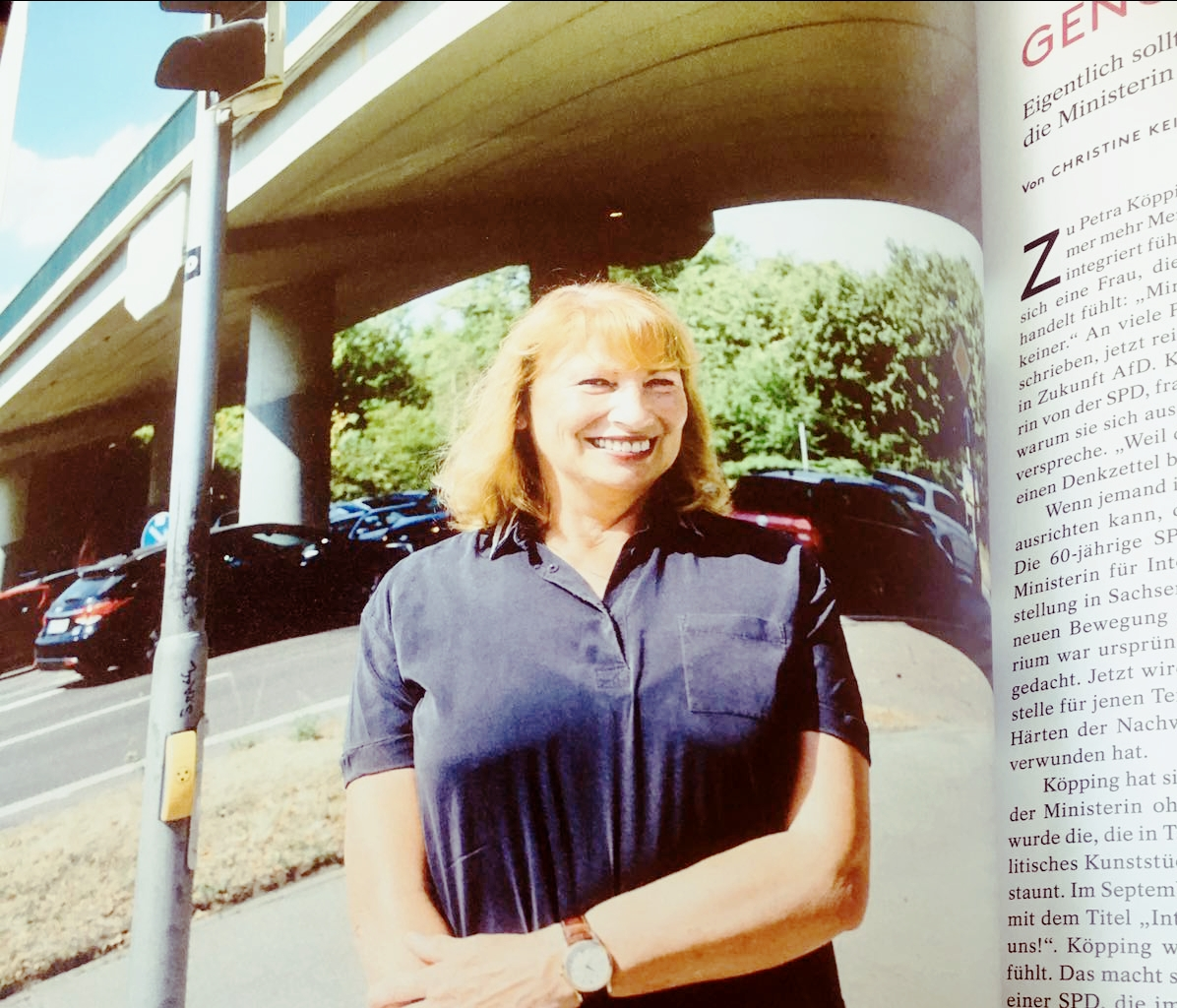 As minister for gender equality and integration in the East German Boomstate of Saxony, Petra Köpping was involved with the integration of migrants into German society.