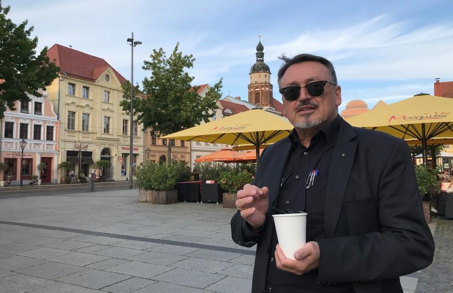 """Heinz Nagler, Jahrgang 1955, hat nach der Wende die Innenstädte der Lausitz neu gestaltet. """"Eine Stadt muss attraktiv sein"""", sagt er"""